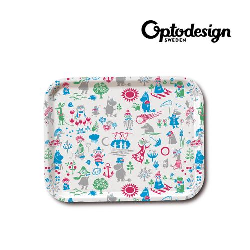 [옵토] 무민 패턴 디자인 트레이 소 (101-03) (Sweden Made)