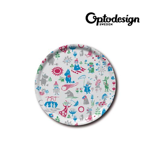 [옵토] 무민 패턴 디자인 원형 트레이 (201-3) (Sweden Made)