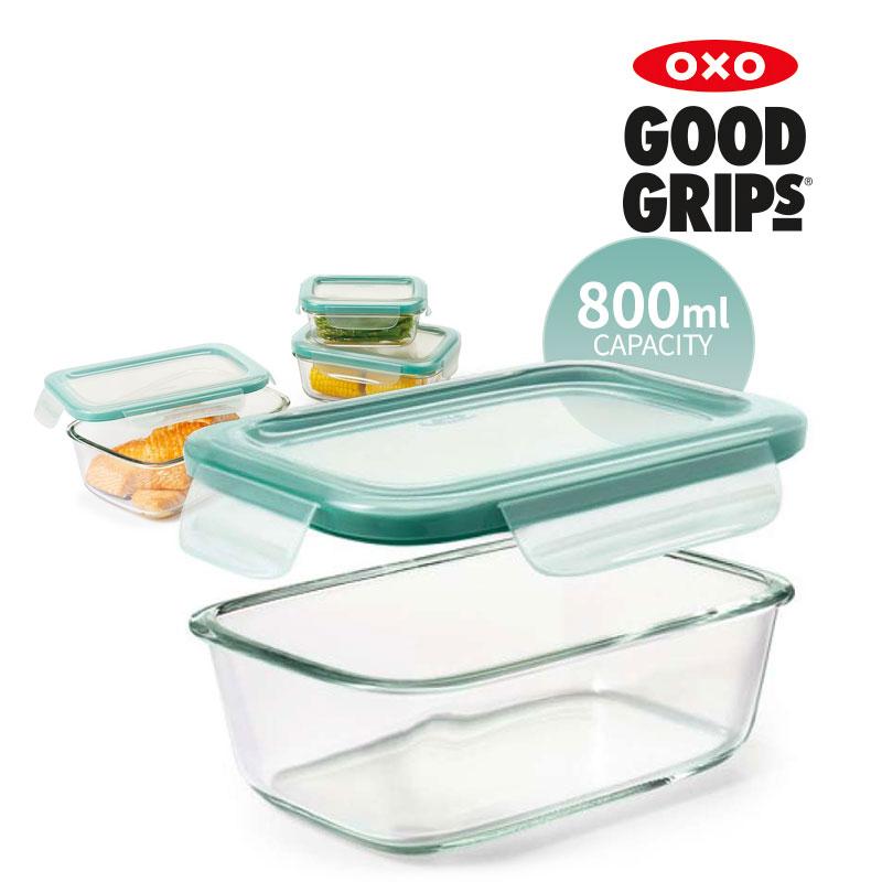 [OXO] 유리 밀폐용기 800ML 직사각