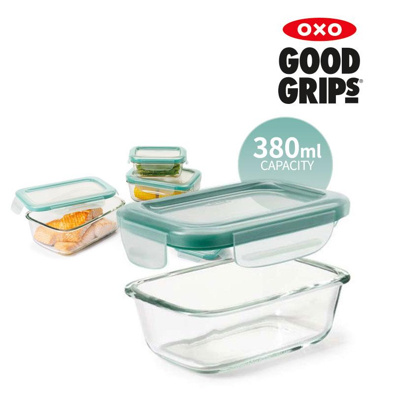[OXO] 유리 밀폐용기 380ML 직사각