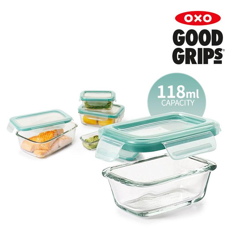 [OXO] 유리 밀폐용기 118ML 직사각
