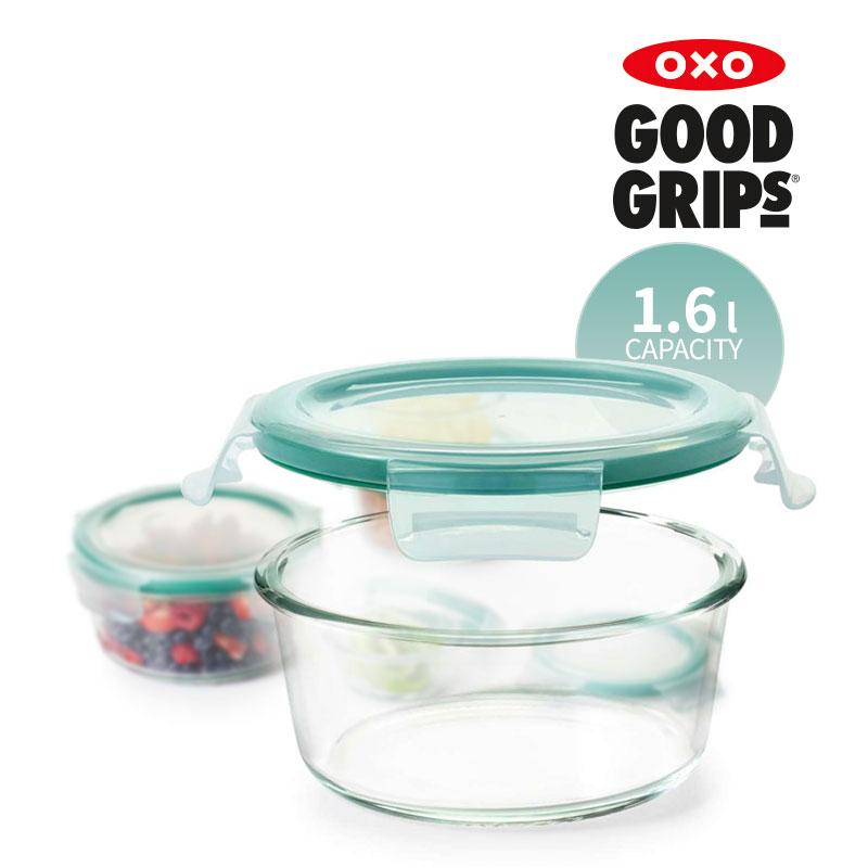[OXO] 유리 밀폐용기 1.6L 원형