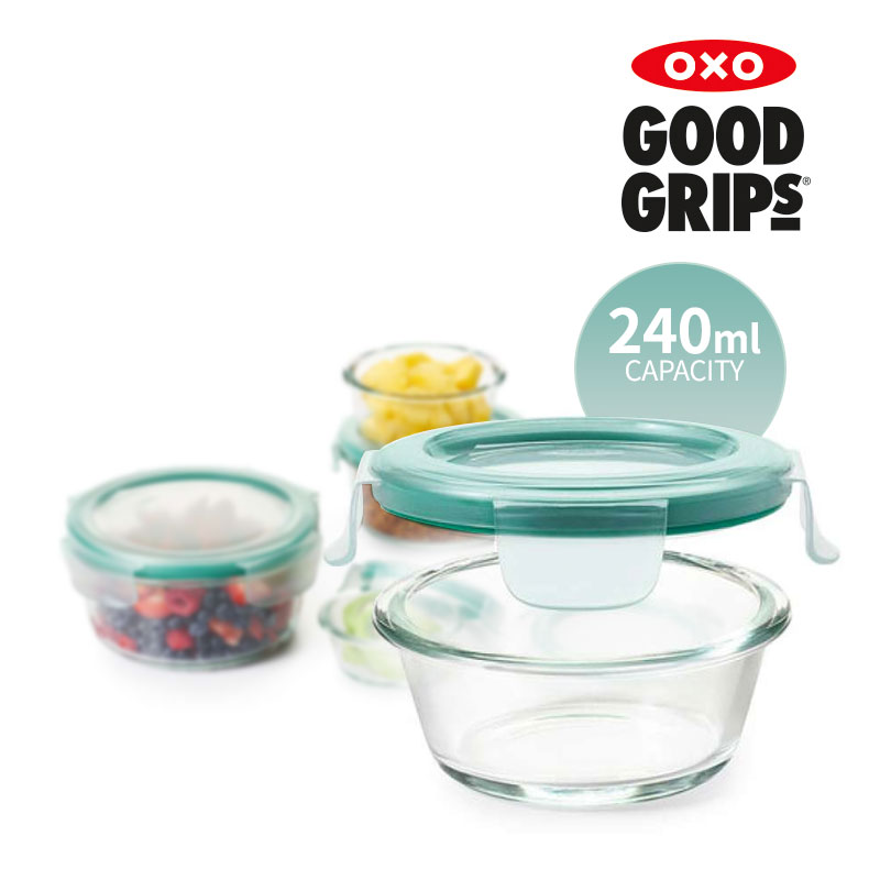 [OXO] 유리 밀폐용기 240ML 원형