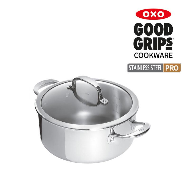 [OXO] 스테인레스 스틸 프로 양수냄비 20cm