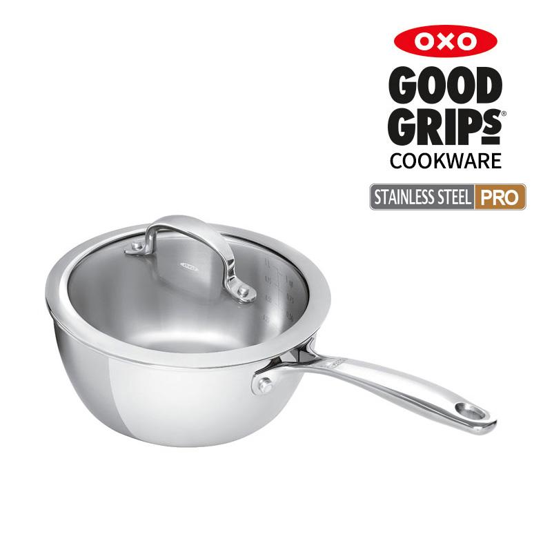 [OXO] 스테인레스 스틸 프로 편수냄비 16cm